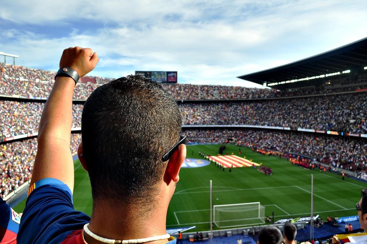 Football in Barcelona, Spain
