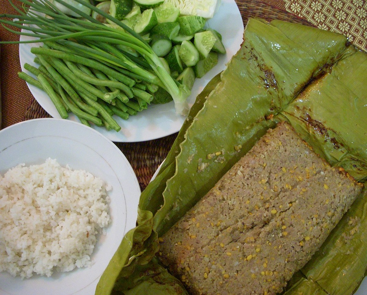 photo of the delectable fried prahok meal in Cambodia