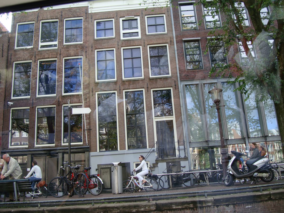 Breathtaking front facing view of the famous Anne Frank House Museum