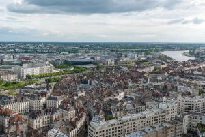 a photo of the landscape of the city of Nantes in France