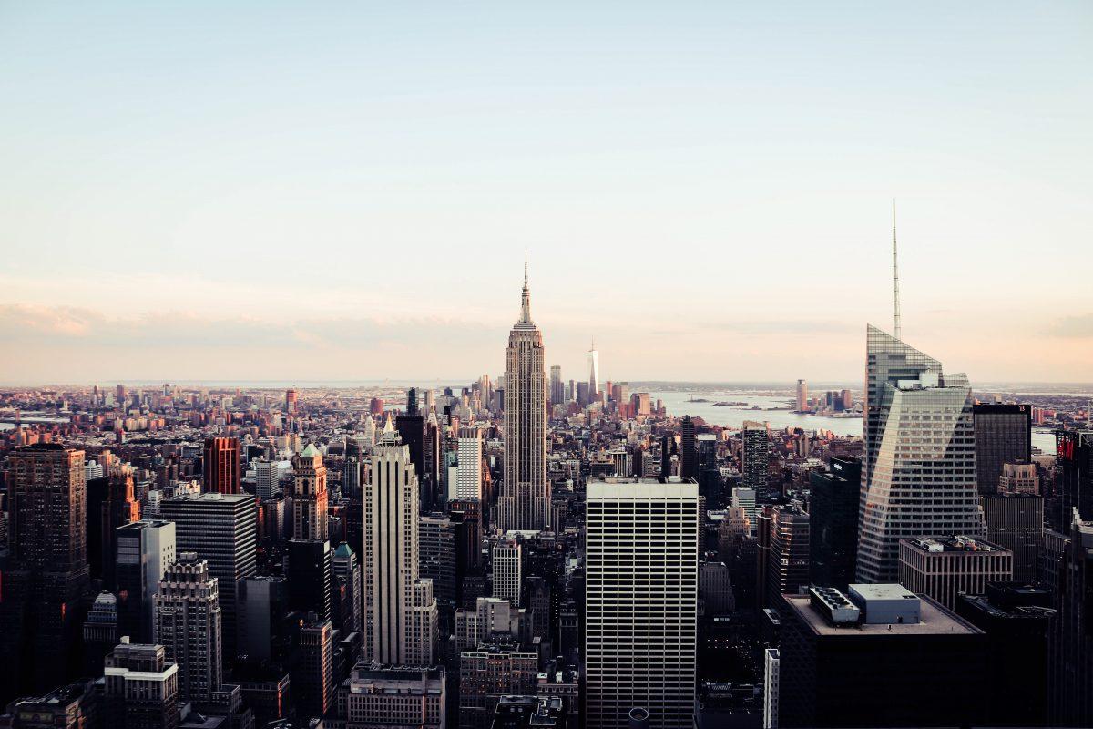 photo of the New York City Skyline at sunset