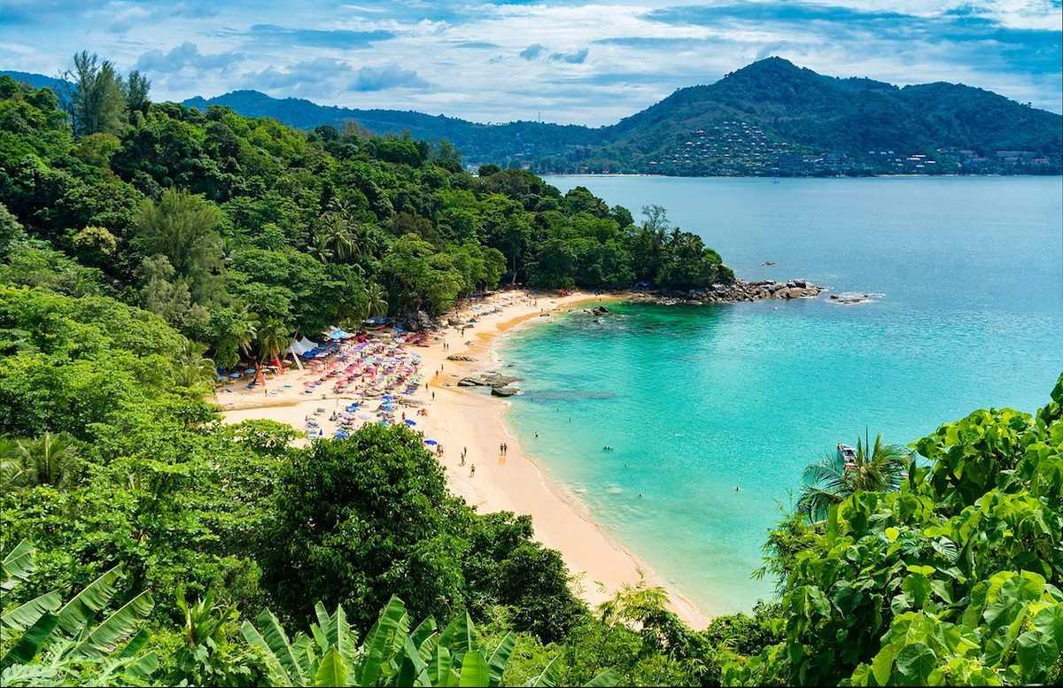 aerial view of Phuket Beach in Thailand