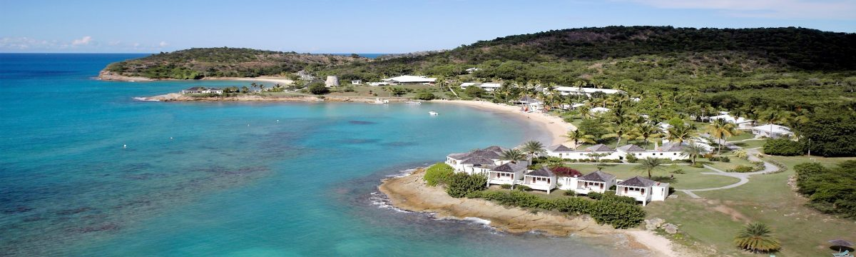 Aerial photo of Hawksbill by Rex Resorts