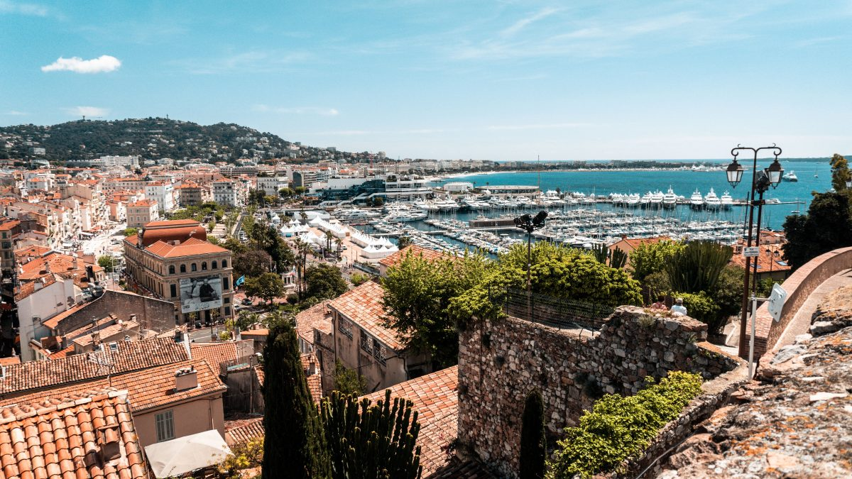 A panoramic view of Cannes, France