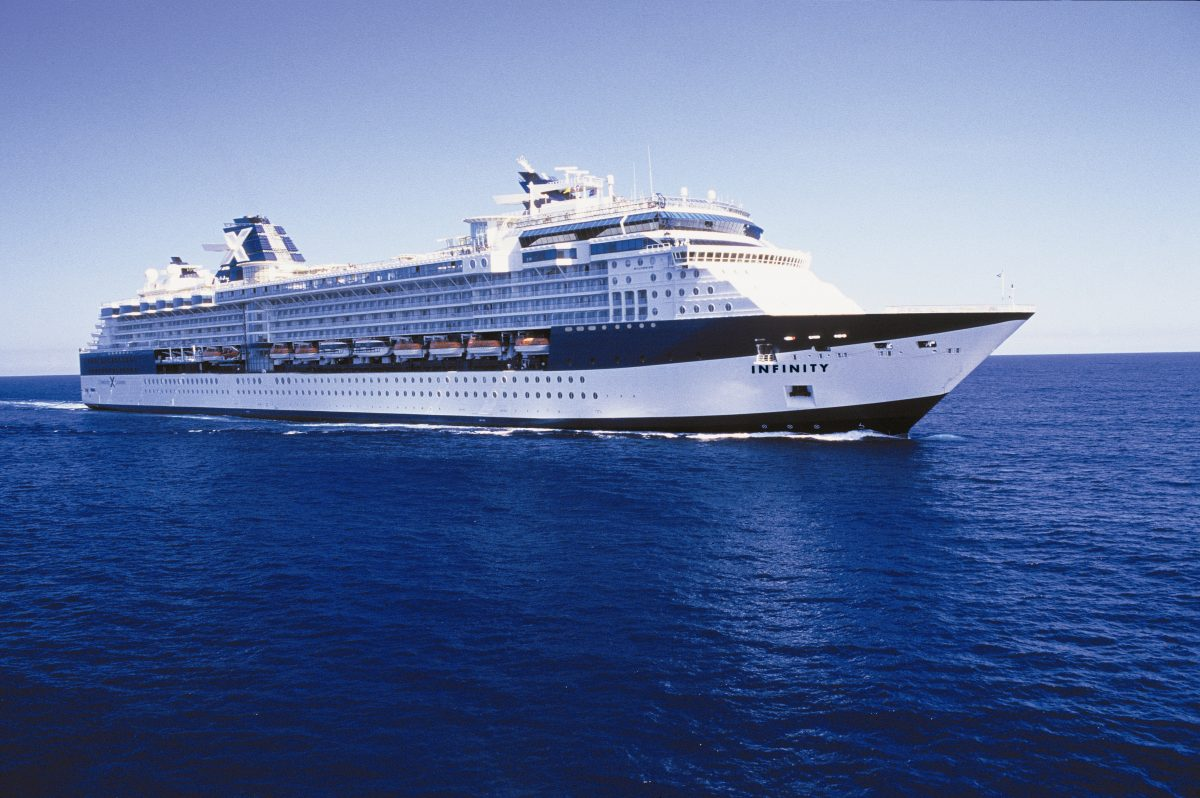Bliss Cruise's Celebrity Infinity ship at sea