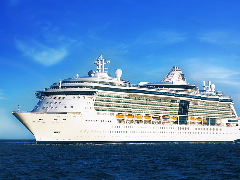 The Temptation Caribbean Cruise ship in the open sea