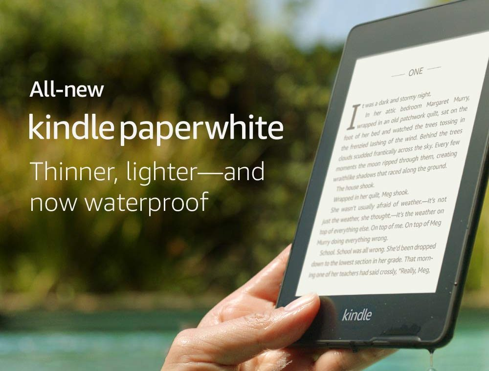 Paper white waterproof and lightweight Amazon Kindle