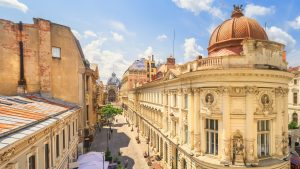 Bucharest Old Town during a sunny day