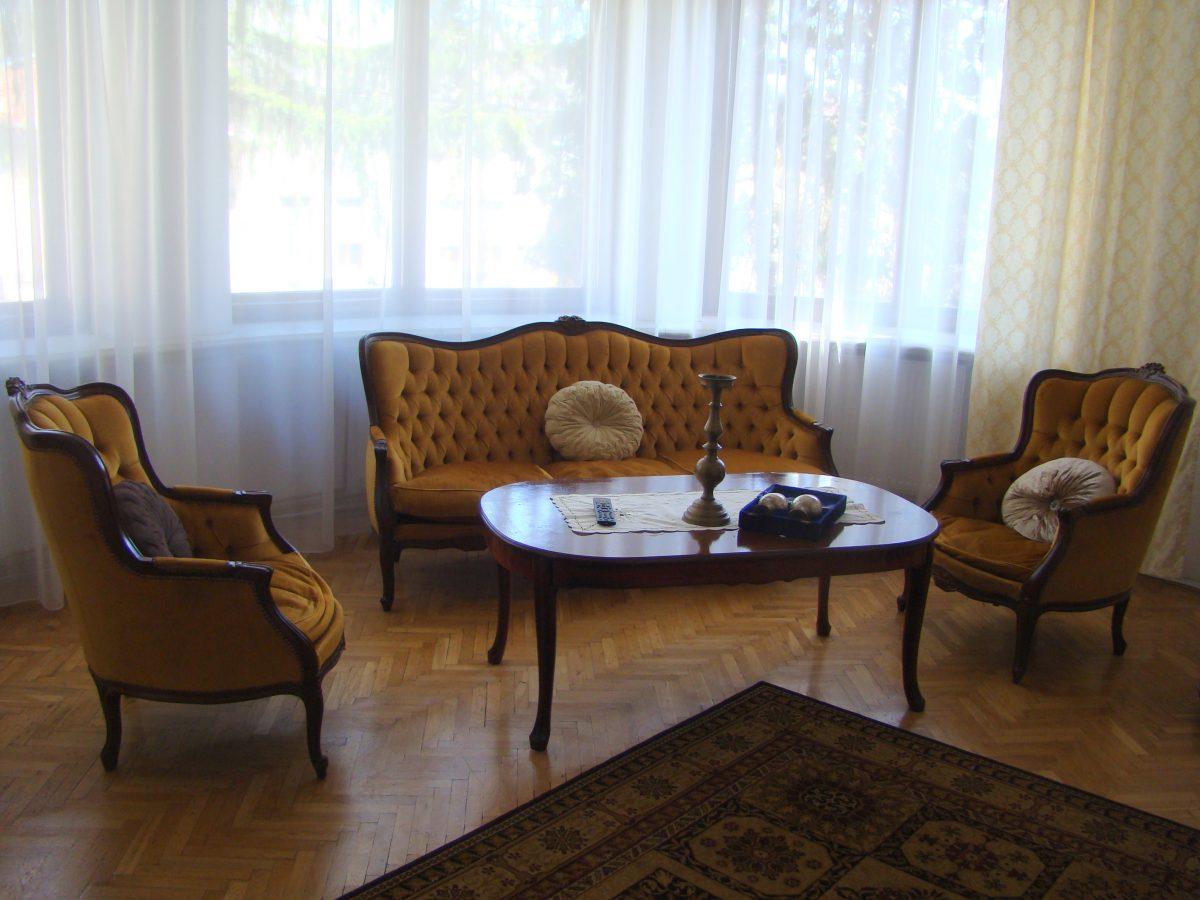 a sofa set Inside Casa Ceauşescu