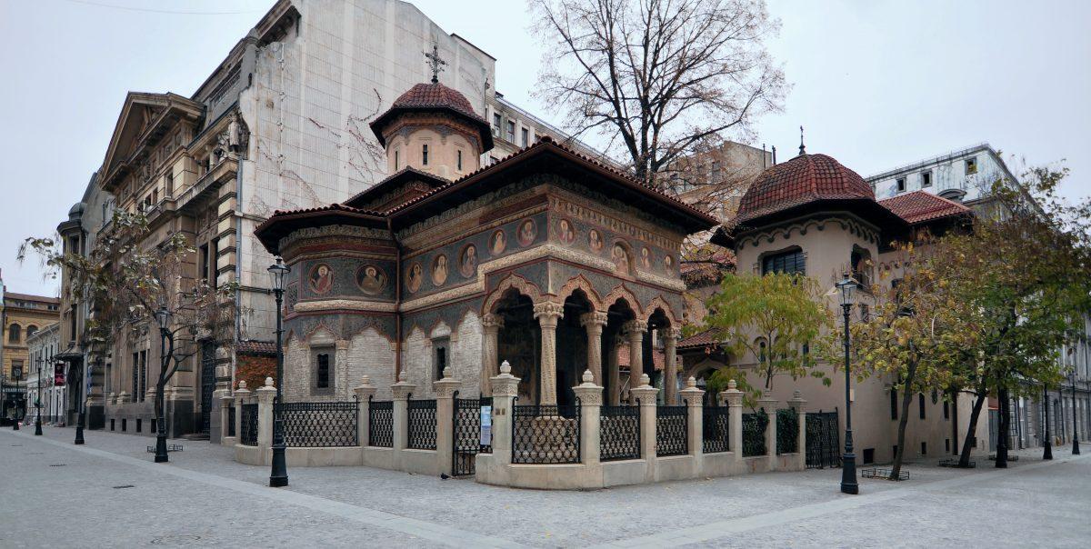 photo of the Stavropoleos Monastery at the corner