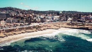 Aerial View of La Jolla Beach, San Diego