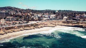 Aerial View of La Jolla Beach, San Diego