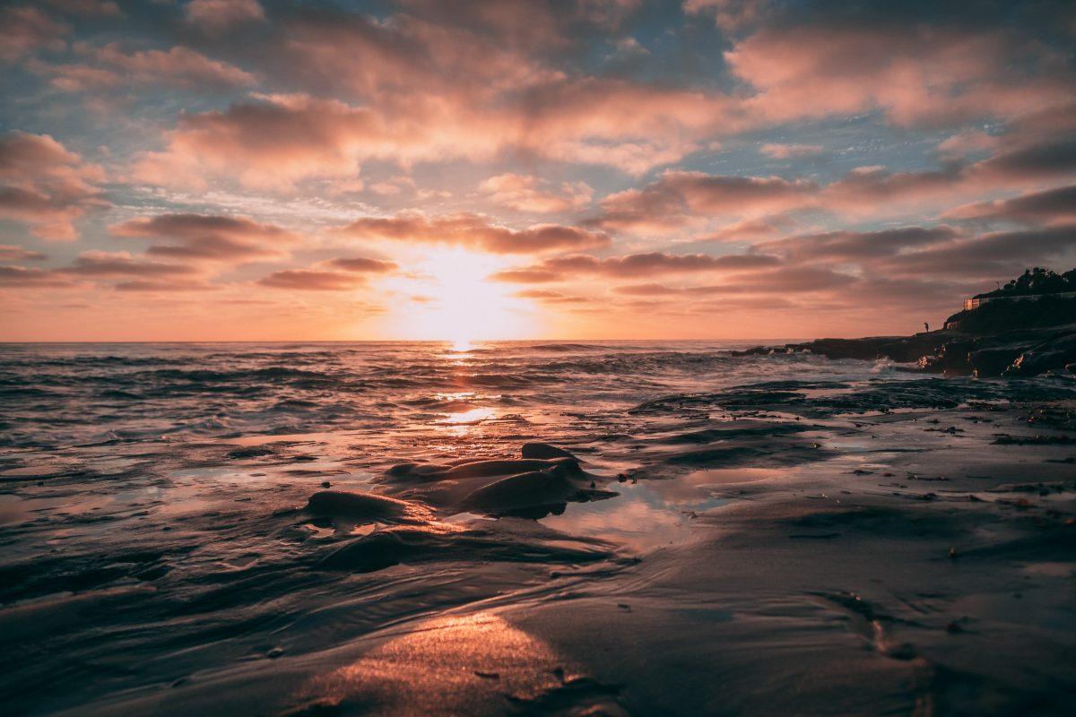 a photo of the sunset at Windansea Beach