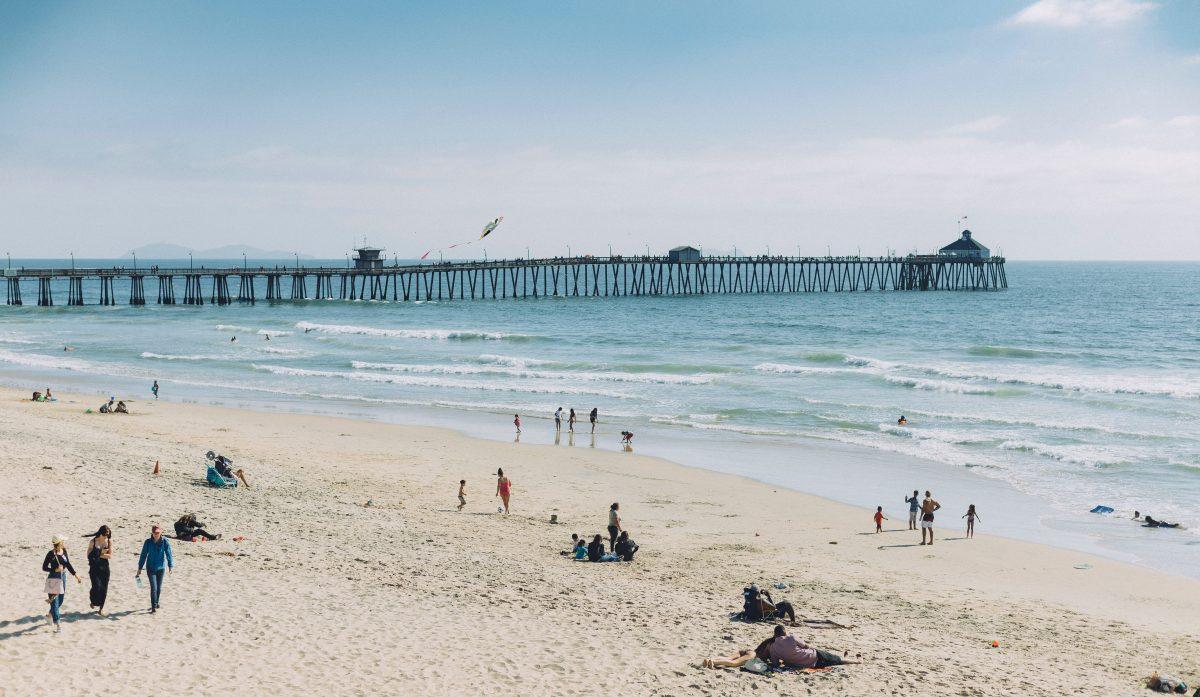 People having fun at Imperial Beach, San Diego