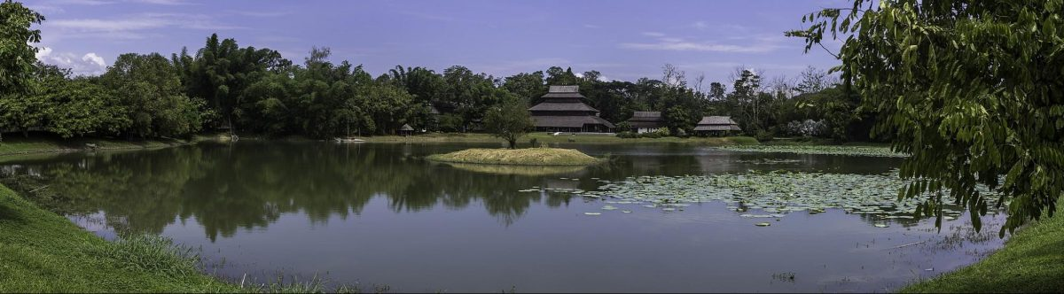 wide angle shot of the Mae Fah Luang Art & Cultural Park