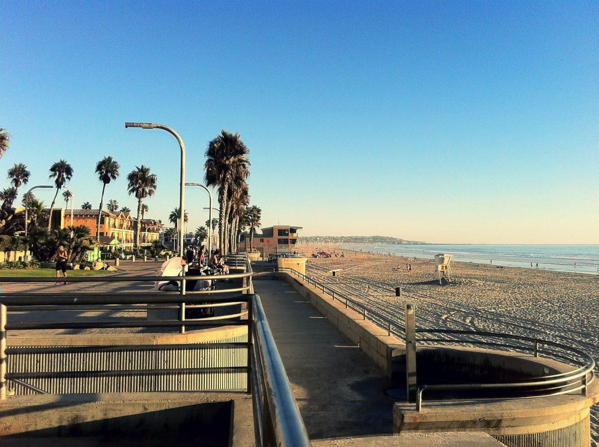 a photo of Pacific Beach, San Diego as the sun sets