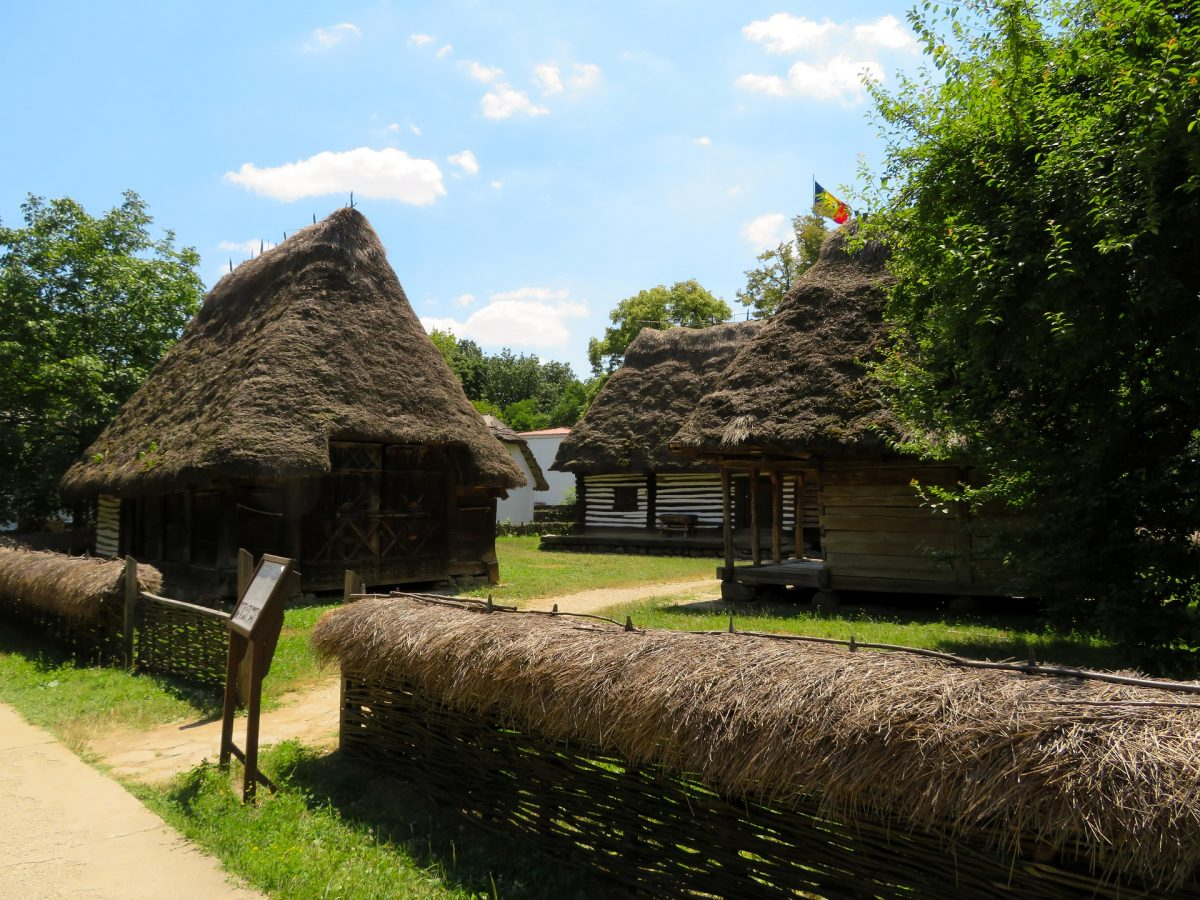 Ancient houses at Village Museum Romania