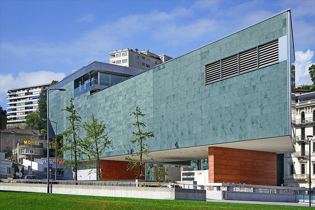 Facade of the Lugano Arte e Cultura during the day