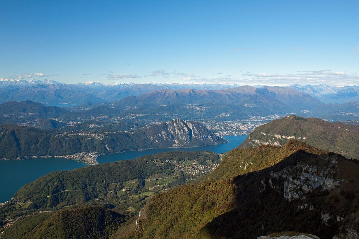 Monte San Salvatore as seen from Monte Generoso