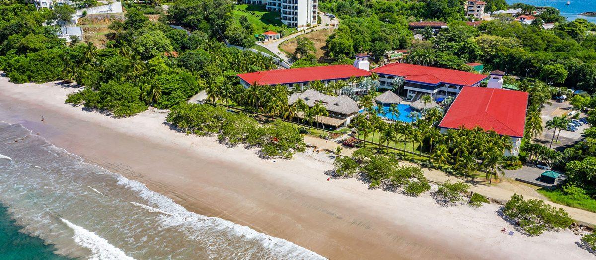 Aerial shot of the Margaritaville Beach Resort