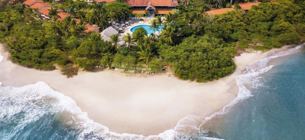 Aerial shot over Occidental Tamarindo resort