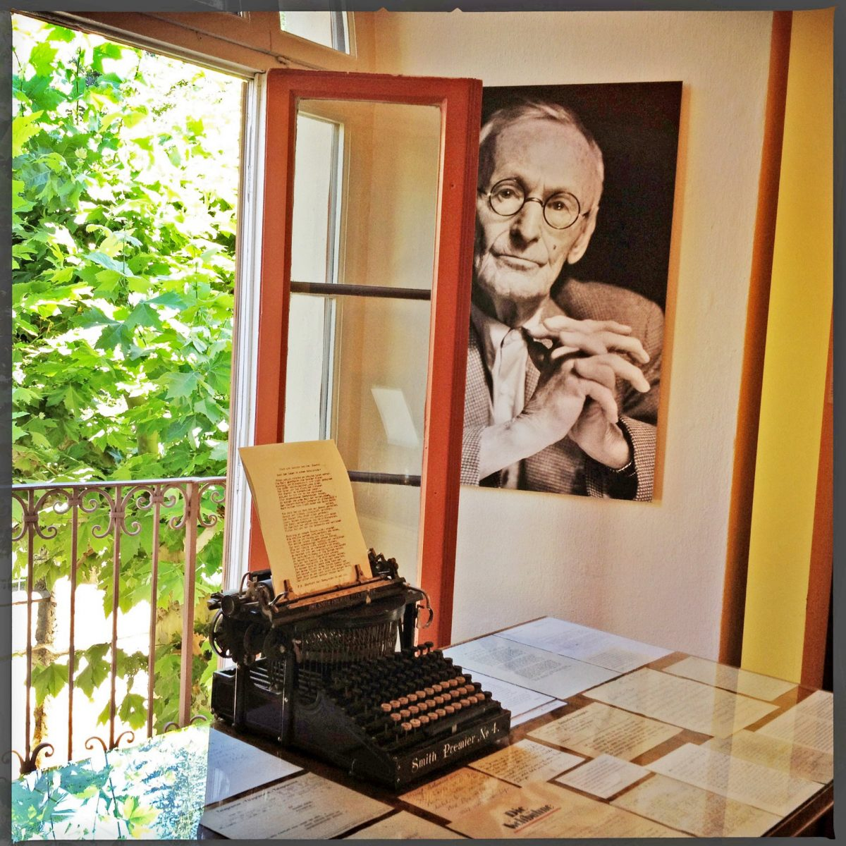 The famous typewriter used by Herman Hesse in his museum