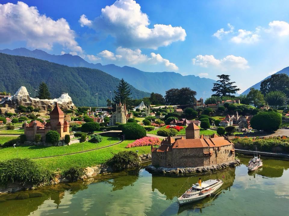 Photo of the miniature Switzerland town in Lugano