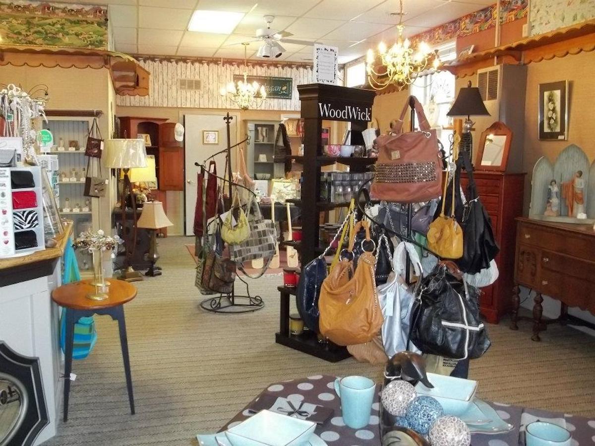 Handmade crafts and bags on sale at Adams Madams