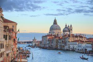 Photo of Venice Italy with a view of the Canal della Giudecca