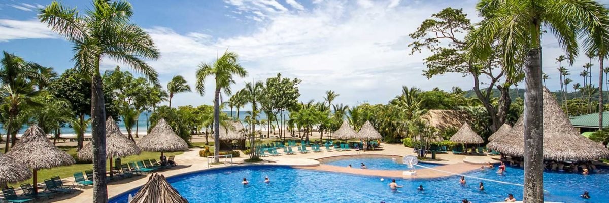 Pool area of Barcelo Tambor Hotel in Costa Rica