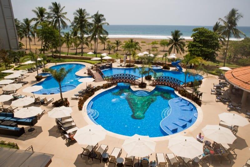 Aerial shot of the amenities of Crocs Resort Casino