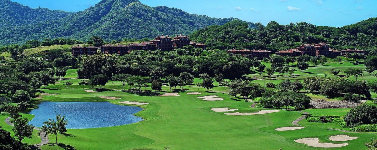 Aerial photo of Costa Rica Westin Playa Conchal, featuring its golf course