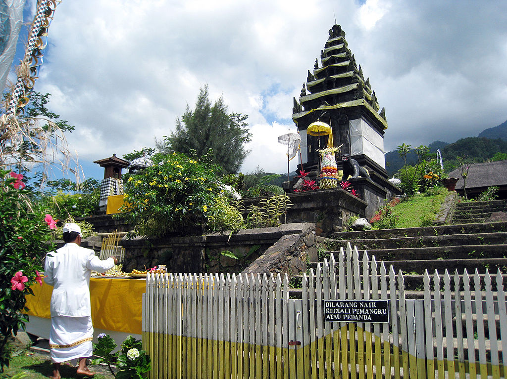 A Hindu shrine dedicated to King Siliwangi in the Hindu temple Pura Parahyangan Agung Jagatkarta, Bogor, West Java