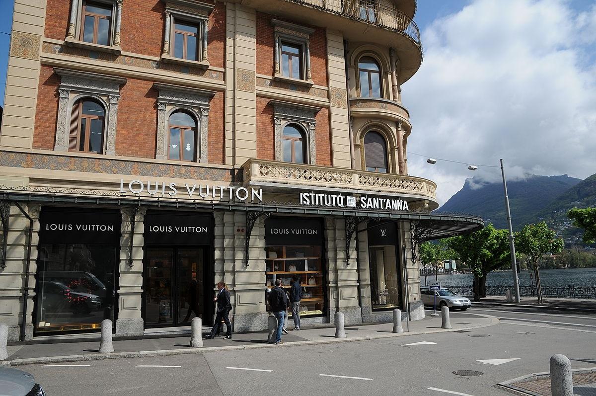 A Louis Vuitton store at Via Nassa
