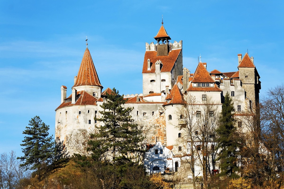 """Bran Castle in Transylvania, popularly known as """"Dracula's Castle"""""""