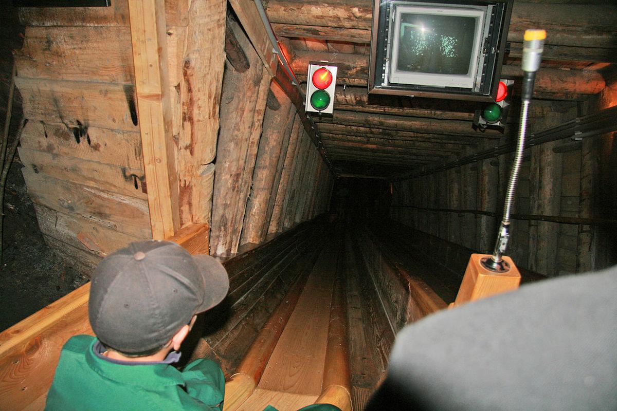 Inside the Hallstatt Salt Mine in Upper Austria