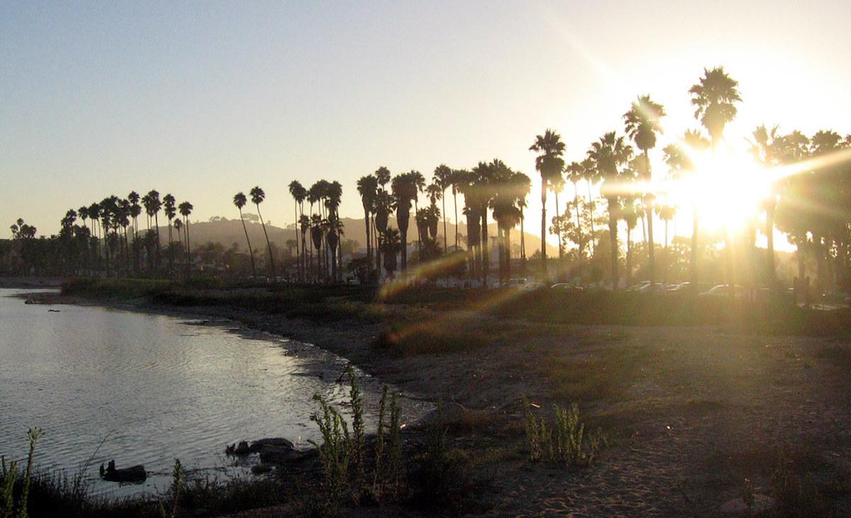 Sunset over at Santa Barbara County