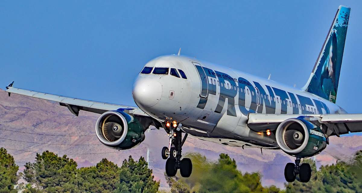 Frontier Airlines Airbus a few minutes after take-off