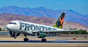 Frontier Airlines Airbus at Las Vegas - McCarran International Airport