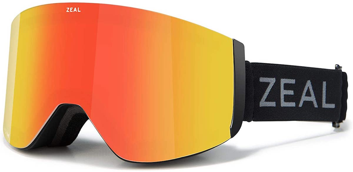 Zeal Optics Hatchet in Dark Night with Phoenix Mirror lens