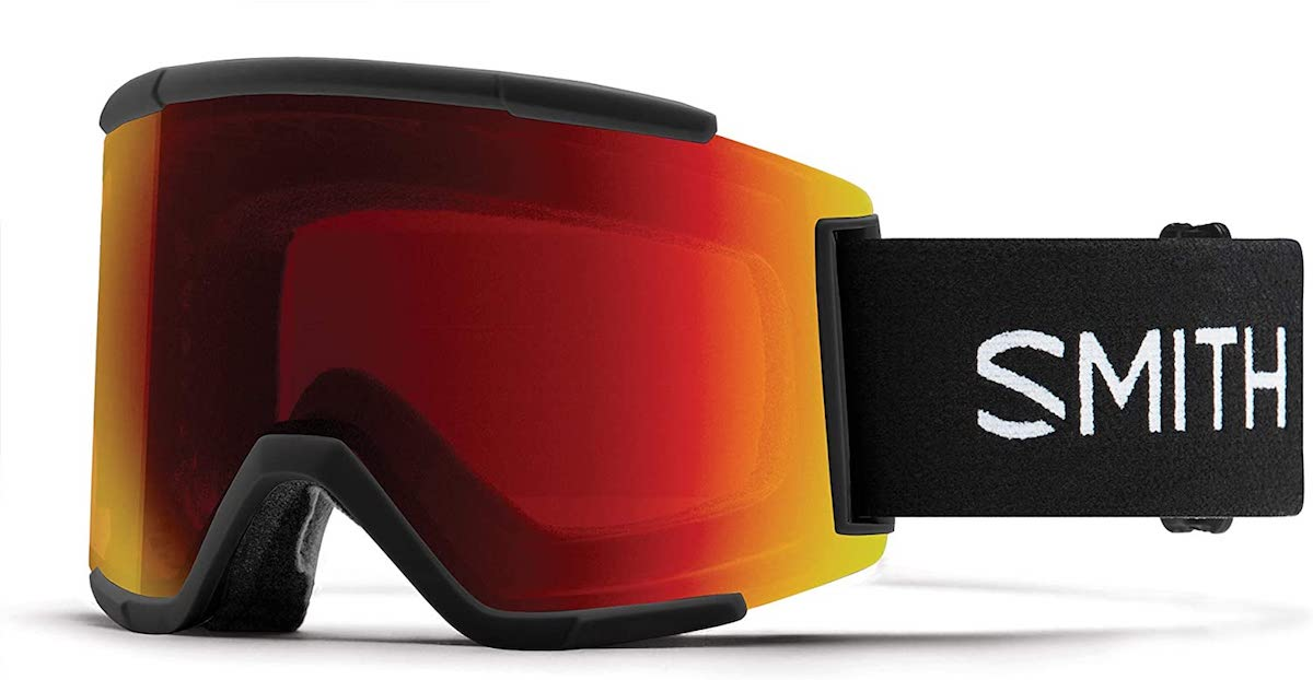 Smith Squad XL Snow Goggle Black w/ ChromaPop Sun Red Mirror and CP Storm Rose Flash Lens