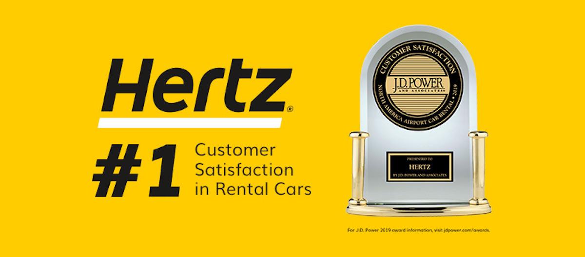 Hertz ad, renowned car rental
