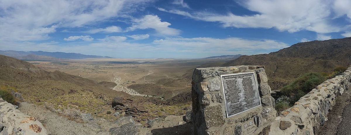 The rugged landscape of Anza-Borrego Desert State Park