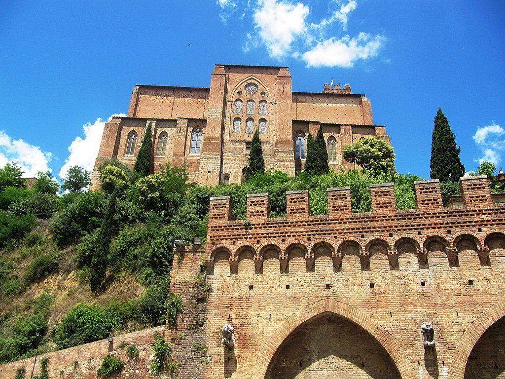 Basilica San Domenico, church in Siena Italy