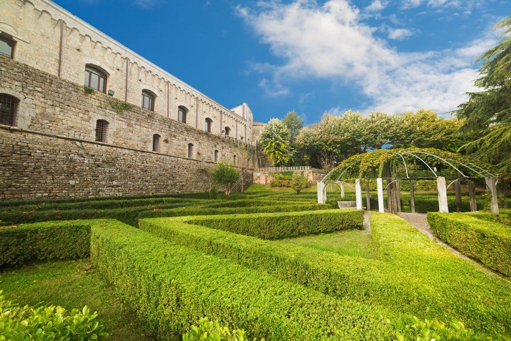 Fortezza Medicea garden, fortress in Siena Italy