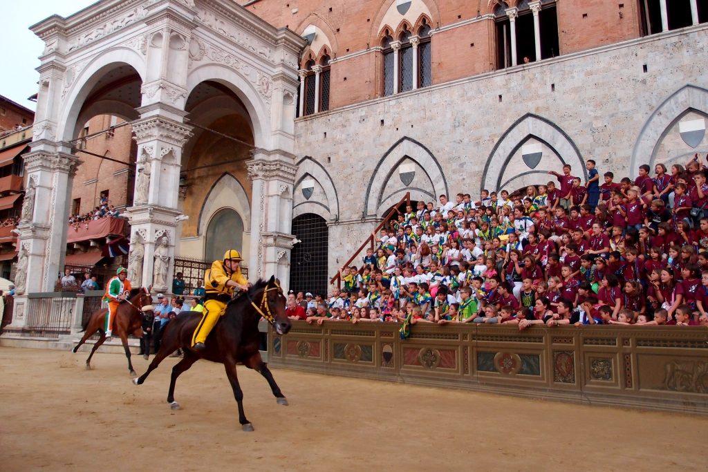 The Palio horse race, Siena Italy