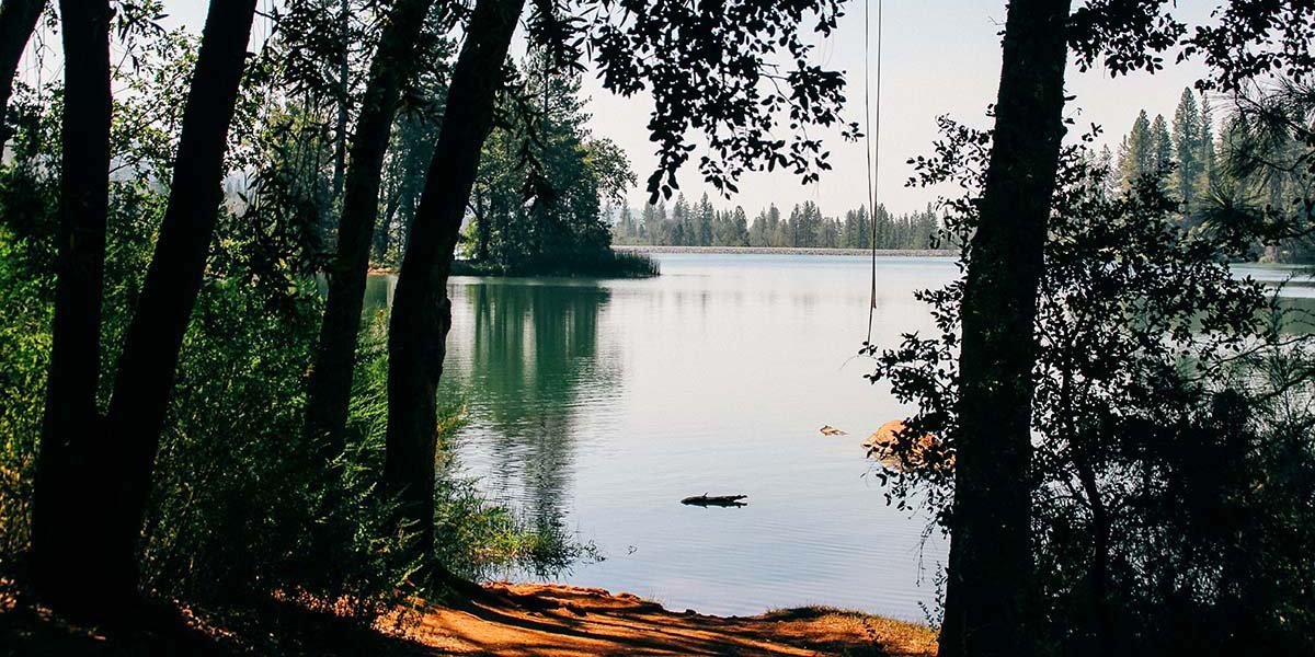 A shot of the serene lake for all the water activities at Lake Francis Resort