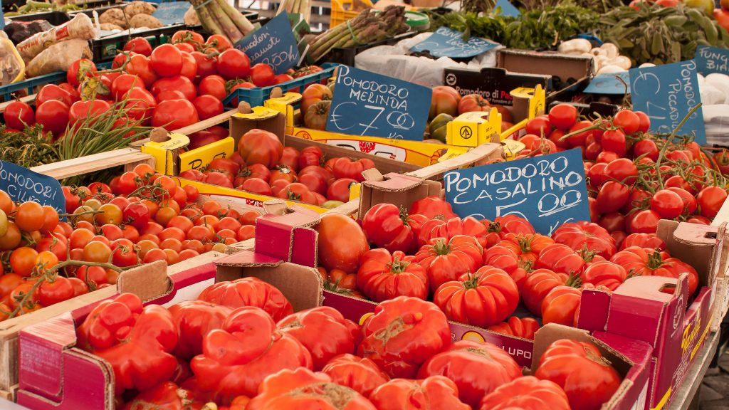 city market, fruits and vegetables, Siena italy