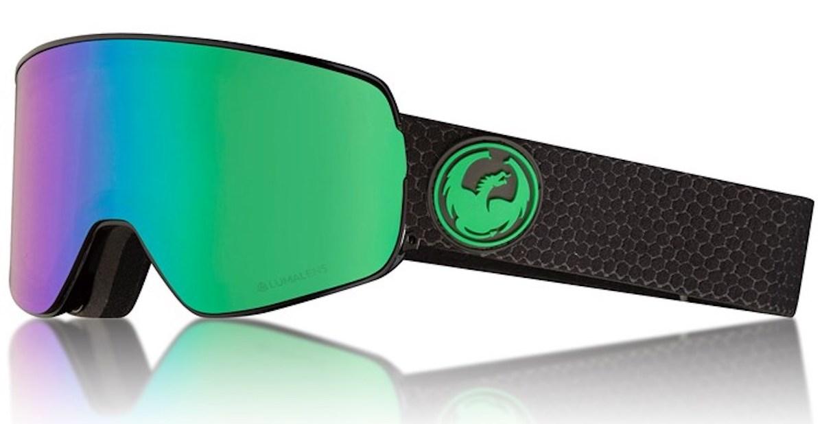 Dragon NFX2 Goggles in Split/LumaLens Green Ion + LumaLens Amber