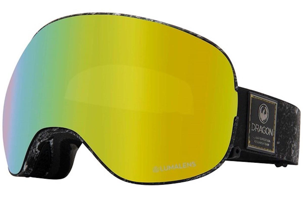 Dragon X2 goggles in LumaLens Gold Ion + LumaLens Amber